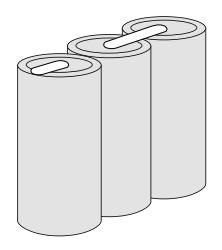 Batteripakke til nødbelysning