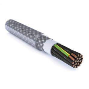 Styrekabel yslysy-jz 30g0,5mm2 m/stålfletskærm T500