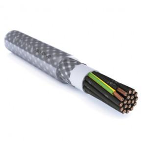 Styrekabel yslycy-jz 3g0,75mm2 m/kobberfletskærm T500